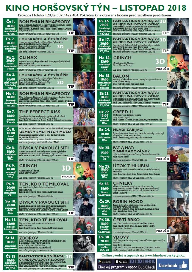 Kino listopad 2018