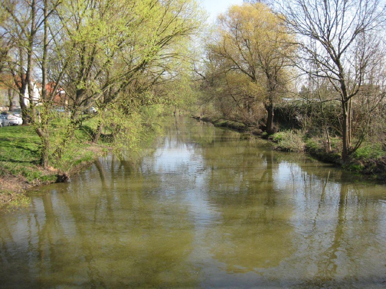 Pohled na koryto řeky